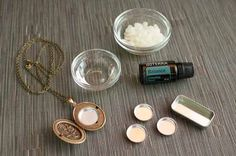 Solid perfume made with beeswax, fractionated coconut oil, and essential oils.
