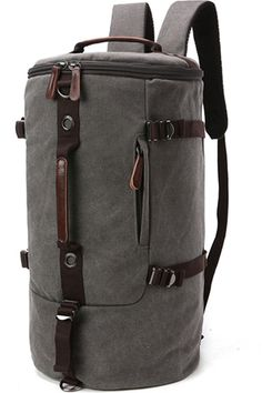 Aidonger Unisex Vintage Canvas Barrel Hiking Backpack *** Discover this special outdoor gear, click the image : backpacking packs