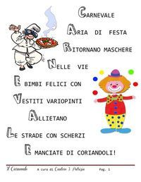 Percorso didattico - Carnevale | PDF to Flipbook Italian Lessons, Italian Language, Teaching Tools, Happy Fathers Day, Nursery Rhymes, Back To School, Carnival, Coding, Activities