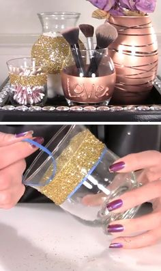 DIY Vanity & Makeup Storage Set | Click Pic for 18 DIY Makeup Storage Ideas for Small Bedrooms | Easy Organization Ideas for the Home