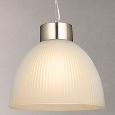 Buy John Lewis & Partners Lester Ribbed Ceiling Light, Frosted Glass from our Ceiling Lighting range at John Lewis & Partners. Copper Pendant Lights, Ceiling Pendant, Pendant Lighting, Ceiling Lights, Cluster, Frosted Glass, Hanging Lights, Timeless Fashion, John Lewis