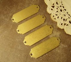 Scalloped+End+Large+Raw+Brass+Stampings+ID+by+alyssabethsvintage,+$2.90