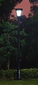 """Go Green with our Imperial Solar Lantern.  Replace your outdated and energy-guzzling gas lamps or low voltage lighting with our energy-efficient solar powered lantern.  The lantern fits over any existing 3"""" pole. Using our patented cone reflector technology, this classic gas lamp design solar lantern with super bright white LEDs will safely light your entry, elegantly enhance your home, and impress your neighbors."""