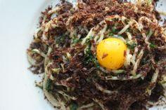 Spaghettini w/ tuna heart & egg yolk from Incanto in #SF