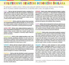 KuliFerdiovo desatero Education, Training, Educational Illustrations, Learning, Onderwijs, Studying