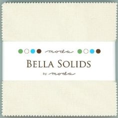 Moda Bella Solids Natural Charm Pack Fabric Squares $8.85