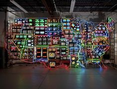 nam june paik | Electronic Superhighway (1995) by Nam June Paik. Image courtesy of the ...