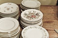vintage china for wedding reception
