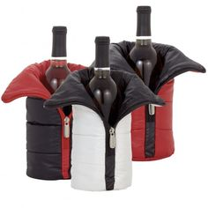 Aspen Cooling Wine Jacket Collection- these are totally precious and convenient for those wine and cheese picnics.