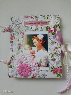 Вот такая папка-открыточка была сделана на заказ на рождение девочки. фото 1