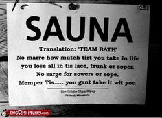 sauna sign by kaleva_1824, via Flickr
