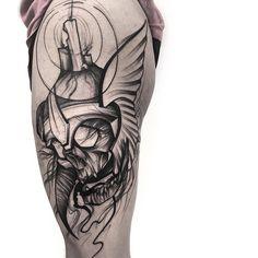 Tattoo artist Frank Carrilho authors Chaotic Blackwork tattoo | Portugal