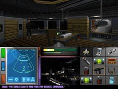 Ahh.. 16 bit games like Wolfenstein 3D, Doom, Quake, etc. Revolutionized gaming in the 1990s. This is a screenshot of Star Trek Generations. 16 bit madness! I remember using MS-DOS to play stuff like this.. ahhh!