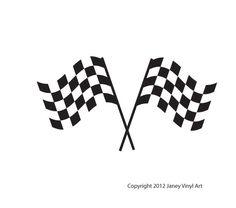 Checkered Race Flags Decals - Boys Room Decor - Race Car. $19.00, via Etsy.