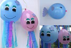 Kinderfeestje, knutselen met Ballonnen