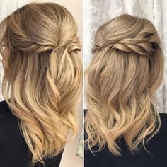 Gorgeous upstyle by Kassi and color by Richard! @richiehernick #stylebyrumors #bridalhair #bridal #updo #upstyles #upstyling #braids #braidstyles #iamgoldwell #blonde #halfuphalfdown #gorgeous #beautiful #behindthechair #modernsalon