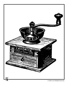 Free Printable Vintage Clip Art – Victorian Fashion, Home & Family Images Antique Coffee Grinder Clip Art – Craft Jr.