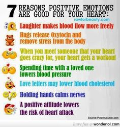 7 Reasons Positive Emotions are Good For Your Health