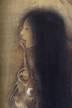 There was a question about the art in my last post. It was by Fuyuko Matsui . Japanese Art Modern, Japanese Artwork, Japanese Prints, Traditional Japanese, Surreal Artwork, Japan Painting, Macabre Art, Bizarre, Arte Horror