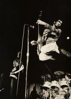 Roger Daltrey, John Entwistle's shadow, Pete Townshend & Keith Moon
