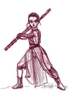 Rey - sketch by Begominola.deviantart.com on @DeviantArt