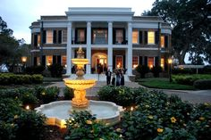 The Ford Plantation, Savannah GA  Not only is it ridiculously gorgeous, but it's adorned with a quat fountain. Literally my dream