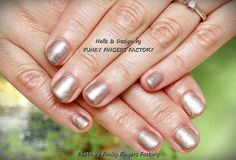 Gelish Oh What A Knight! on short nails by FUNKY FINGERS FACTORY