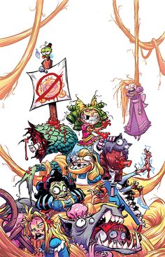 I HATE FAIRYLAND #2 ( FUCK FAIRYLAND variant) Each issue of this first arc will have variant cover with the original title I used while developing this series. Fuck Fairyland. That's how Gert feels about this place so I wanted to do a run of covers that feel a little more… GERT. :) There are no requirements or thresholds for these variants. Order at will. :)There's still a few week left to order the two covers for issue 1 and you can start pre ordering issue 2.