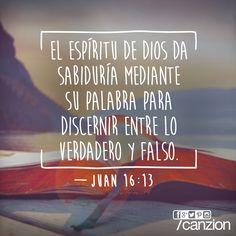«Cuando venga el Espíritu de verdad, él los guiará a toda la verdad. Él no hablará por su propia cuenta, sino que les dirá lo que ha oído y les contará lo que sucederá en el futuro». —Juan 16:13