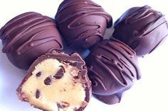 Vegan Chocolate Chip Cookie Dough Truffles