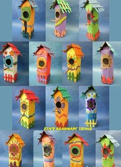 Bird house from milk boxes.