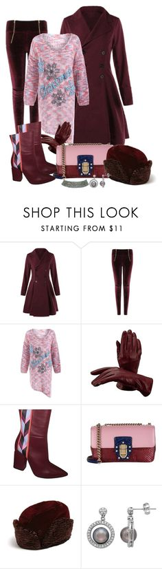 """""""Christmas Sweater"""" by fantasiegirl ❤ liked on Polyvore featuring Aspinal of London, Emilio Pucci, Dolce&Gabbana, Maison Michel and Marina J."""