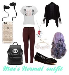 """""""Mae's Normal Outfit"""" by xxanimeonlinexx on Polyvore featuring J Brand, Dettagli, VILA, Lucky Brand, Freddy, Casetify, BCBGMAXAZRIA and Monster"""