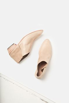 calf help, nude shoes. Shoes with thicker heels.