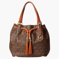 70b5ffe369 Michael Kors Jet Set Gathered Large Tote Handbag in Brown Michael Kors  http://