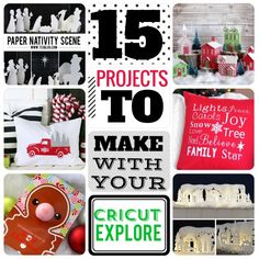 15 Projects you have to try with the Cricut Explore + exclusive Black Friday SALE. LOVE all the Christmas projects to do here! #cricutexplore