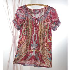 Beaded and Sequined Paisley Blouse