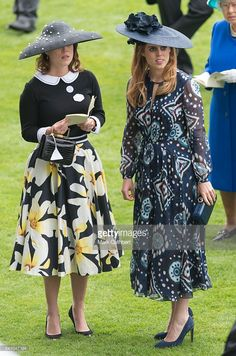 Princess Eugenie and Princess Beatrice attend day 5 of Royal Ascot at Ascot Racecourse on June 18, 2016 in Ascot, England.