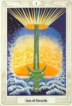 Lá Ace of Swords – Aleister Crowley Thoth Tarot bài tarot