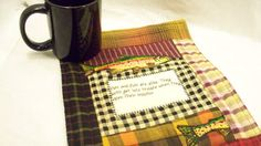 Men and Fish are Alike 9 x 12 quilted mug mat by quiltingcafe, $13.00. Great father's day gift