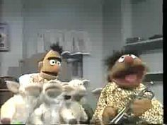 Always makes me happy! Vintage Sesame Street It's the little lambs that crack me up.