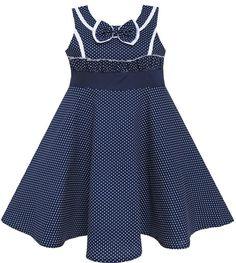 $21.99 (Buy here: https://alitems.com/g/1e8d114494ebda23ff8b16525dc3e8/?i=5&ulp=https%3A%2F%2Fwww.aliexpress.com%2Fitem%2FGirls-Dress-Bow-Tie-Heart-Print-Sleeveless-Blue-7-14%2F32432985182.html ) Sunny Fashion Girls Dress Bow Tie Heart Sleeveless Blue Cotton 2016 Summer Princess Wedding Party Dresses Girl Clothes Size 7-14 for just $21.99