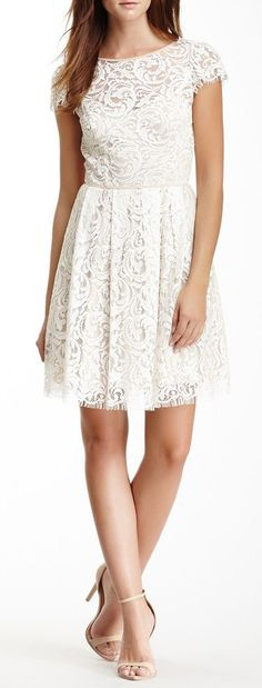 Would make a cute engagement, bridal shower or rehearsal dinner dress.
