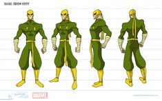 Iron Fist from Marvel Comics cosplay costume customs Character Model Sheet, Character Design Girl, Character Modeling, Comic Character, Marvel Comic Universe, Marvel Comics Art, Marvel Heroes, Iron Fist Powers, Character Turnaround