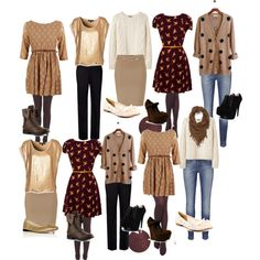 2 weeks worth of mix and match fall teacher styles. In tan, brown, black, and gold. I'll post a more colorful fall teacher style mix and match soon. Enjoy :)
