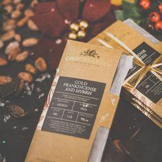 Gold, Frankincense Myrrh dark chocolate bar made by Cornish chocolate company Chocolarder. (Photo credit: Chocolarder)