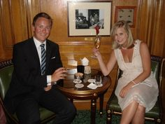 Malene Birger nude pink dress    Bar Hemingway, Ritz Hotel  Paris
