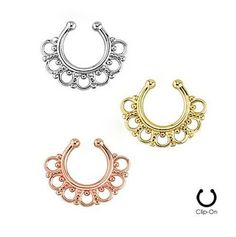 2015 Non-piercing Fake Septum For Clicker Cz Nose Body Jewelry New Arrival Popular Designs Clip On Rings Pircing Nariz Fakes