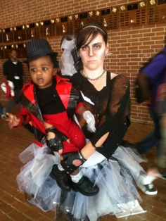HALLOWEEN COSTUME IDEAS I love this! I saw so gotta do this! Michael Jackson and Zombie Girl!! So THRILLER!!! Zombie Costumes, Halloween Costumes, Zombie Girl, Zombie Makeup, Michael Jackson, Thriller, Cute Pictures, Cute Babies, Dance