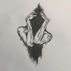 depression sad drawings easy drawing sketches feelings feeling inside security canvas portrait